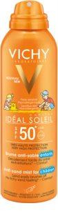 Vichy Idéal Soleil Capital нежен защитен спрей, отблъскващ пясък за деца   SPF50+