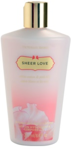 Victoria's Secret Sheer Love White Cotton & Pink Lily testápoló tej nőknek 250 ml