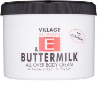 Village Vitamin E Buttermilk krema za telo