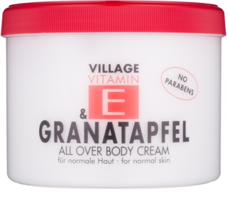Village Vitamin E Pomegranate crème corporelle