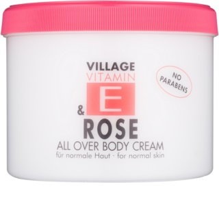 Village Vitamin E Rose telový krém