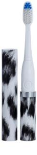 Violife Slim Sonic White Leopard baterijska sonična zobna ščetka z nadomestno glavo