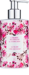 Vivian Gray Cherry Blossom krémové mýdlo na ruce