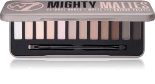 W7 Cosmetics Mighty Mattes paleta farduri de ochi
