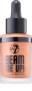 W7 Cosmetics Beam Me Up! рідкий освітлювач