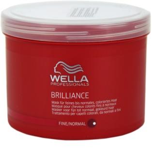 Wella Professionals Brilliance маска  за фина боядисана коса