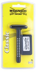 Wilkinson Sword Classic Scheerapparaat + Vervangende Messjes  5st.