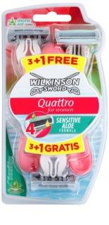 Wilkinson Sword Quattro for Women Sensitive aparat de ras de unică folosință