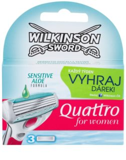 Wilkinson Sword Quattro for Women Sensitive náhradní břity 3 ks