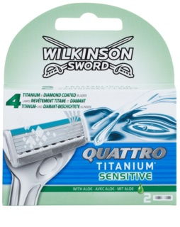 Wilkinson Sword Quattro Titanium Sensitive Змінні картриджі