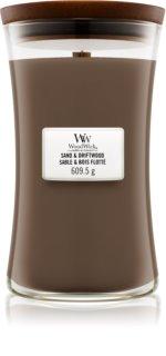 Woodwick Sand & Driftwood vela perfumada  609,5 g con mecha de madera