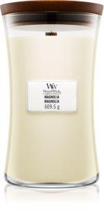 Woodwick Magnolia ароматна свещ  с дървен фитил