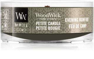 Woodwick Evening Bonfire candela votiva con stoppino in legno