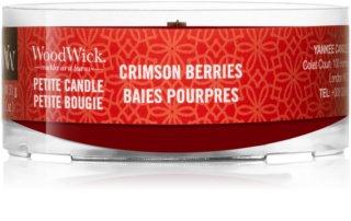 Woodwick Crimson Berries вотивна свічка 31 гр з дерев'яним гнітом