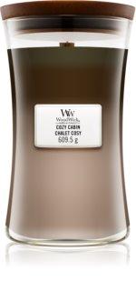 Woodwick Trilogy Cozy Cabin bougie parfumée 609,5 g avec mèche en bois