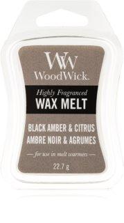 Woodwick Black Amber & Citrus cera derretida aromatizante