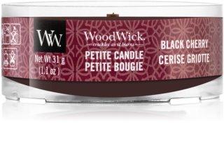 Woodwick Black Cherry votivní svíčka 31 g s dřevěným knotem