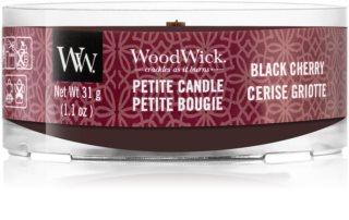 Woodwick Black Cherry lumânare votiv cu fitil din lemn