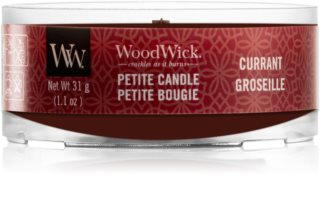 Woodwick Currant votive candle Wooden Wick