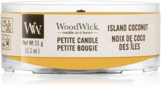 Woodwick Island Coconut bougie votive avec mèche en bois 31 g