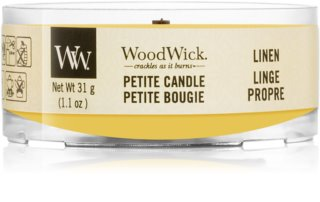 Woodwick Linen sampler z drewnianym knotem