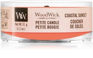 Woodwick Coastal Sunset lumânare votiv 31 g cu fitil din lemn