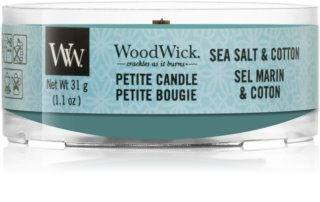 Woodwick Sea Salt & Cotton viaszos gyertya 31 g fa kanóccal
