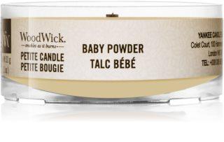 Woodwick Baby Powder sampler z drewnianym knotem
