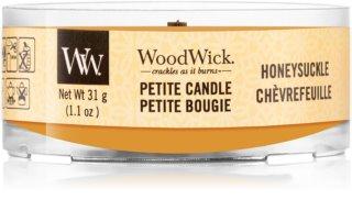Woodwick Honeysuckle candela votiva 31 g con stoppino in legno