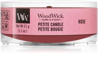 Woodwick Rose candela votiva 31 g con stoppino in legno
