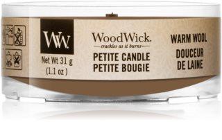 Woodwick Warm Wool вотивна свічка 31 гр з дерев'яним гнітом