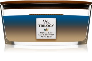 Woodwick Trilogy Nautical Escape vela perfumado 453,6 g com pavio de madeira (Hearthwick)