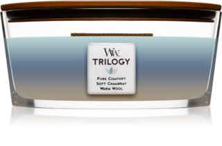 Woodwick Trilogy Woven Comforts vela perfumada  453,6 g con mecha de madera (Hearthwick)