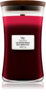 Woodwick Trilogy Sun Ripened Berries vonná svíčka s dřevěným knotem