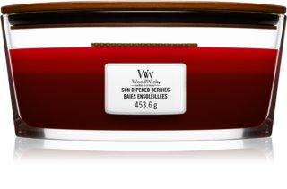 Woodwick Trilogy Sun Ripened Berries bougie parfumée avec mèche en bois (hearthwick)