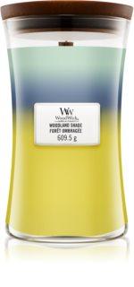 Woodwick Trilogy Woodland Shade vela perfumada  609,5 g con mecha de madera