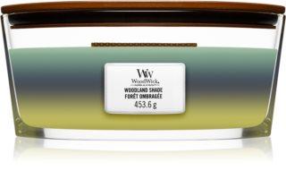 Woodwick Trilogy Woodland Shade vela perfumada  453,6 g con mecha de madera (Hearthwick)