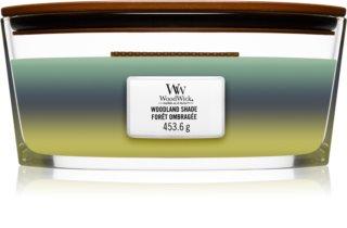 Woodwick Trilogy Woodland Shade illatos gyertya  fa kanóccal (hearthwick) 453,6 g