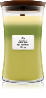 Woodwick Trilogy Garden Oasis scented candle Wooden Wick