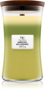 Woodwick Trilogy Garden Oasis bougie parfumée avec mèche en bois 609,5 g