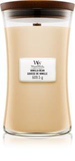 Woodwick Vanilla Bean vela perfumada  609,5 g con mecha de madera