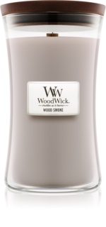 Woodwick Wood Smoke candela profumata con stoppino in legno