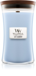 Woodwick Soft Chambray Scented Candle 609,5 g Wooden Wick