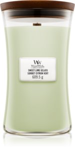 Woodwick Sweet Lime Gelato ароматизована свічка  609,5 гр з дерев'яним гнітом