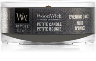 Woodwick Evening Onyx sampler z drewnianym knotem