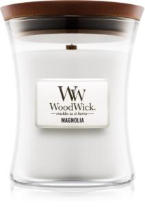 Woodwick Magnolia świeczka zapachowa  275 g z drewnianym knotem