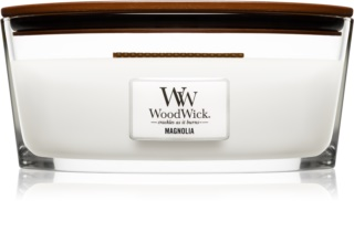Woodwick Magnolia scented candle wooden wick (hearthwick)
