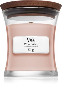 Woodwick Vanilla & Sea Salt candela profumata 85 g con stoppino in legno