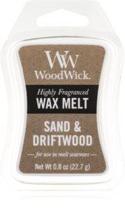 Woodwick Sand & Driftwood cera derretida aromatizante