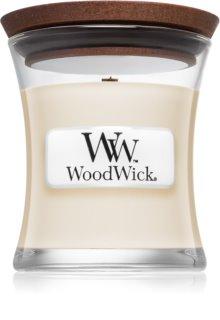Woodwick White Tea & Jasmin vonná svíčka 85 g s dřevěným knotem